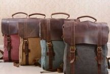 Canvas Backpacks / Canvas Backpacks with Leather Trim