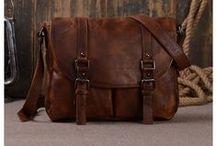 Men Leather Messenger Bags / Selected Top Grain Leather Messenger Bags, Briefcase, Laptop Bag, Macbook Bag