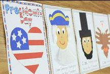 Presidents Day / Presidents Day crafts, activities, books, and teaching ideas for your preschool, kindergarten or primary classroom.