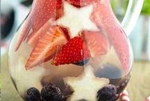 Holiday - Red, White & Blue / Food and drink ideas for the 4th of July