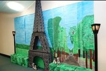 PR Parisian Party Theme / Ideas for our Party Day decorating at work