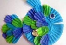 Ocean / Ocean crafts, activities, books, and teaching ideas for your preschool, kindergarten or primary classroom.