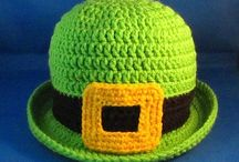Crochet St Patrick's Day hats, booties, bibs, cocoons, diaper covers and scarves. / by Linda Thomas
