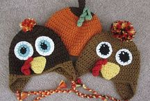 Crochet Thanksgiving hats, diaper covers, cocoons, scarves, booties and bibs. / by Linda Thomas