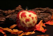 Autumn Apples / A'peeling Fruit carved apples