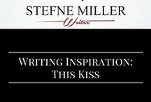 Writing Inspiration: This Kiss / A writing inspiration board for kissing scenes. The hardest scenes to write! Why not get inspired? #AmWriting #ScriptWriting