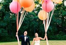 Wedding Trends { Balloons } / Balloons are fab and fun....and can be very stylish indeed! We really love the giant sized balloons and some of the letter balloons :-)  / by Tickety Boo Bunting