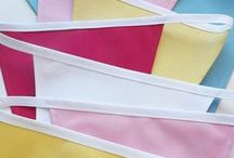 Pick & Mix Bunting / www.ticketyboobunting.co.uk   Create your own cotton colour bunting. / by Tickety Boo Bunting