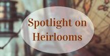Spotlight on Heirlooms - Antiques and Silver / Exquisite heirlooms abound on Ruby Lane. Search for Antiques that are already packed with character and history at more than 100 years old in our Antiques lane. Find richly decorated silver items in our Silver lane, delicately beautiful treasures durable enough for use in your everyday home or special items that appear on your holiday table. Check www.rubylane.com #vintagebeginshere