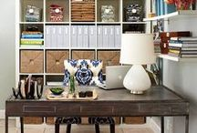 Home Office Ideas / Ideas and tips for creating the perfect home office space, creating a space you will love to work at from home, and maximizing your small office space.
