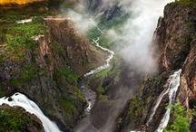 ⨹ w a t e r f a l l s ⨹ travel / summer travel inspiration, waterfalls, hikes, beautiful nature, outdoors, adventure, wanderlust