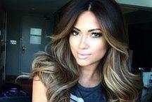 dark hair inspiration / beautiful brunette hairstyles, dark hair