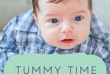 Tummy Time | Play + Tips / Ideas for making Tummy Time fun for your baby with Tummy Time activities and Tummy Time Tips