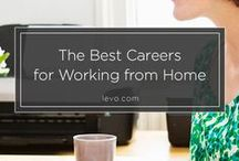 Working from Home Ideas / Ideas and tips for finding jobs to work from home, starting your own business from home, selling craft items, and finding extra income you can make from home.