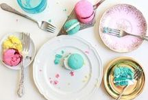 Table Settings / Table settings and table decor for hosting a party and inviting guests.