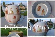 Mis trabajos / Estos son algunos de mis trabajos. Porcelana pintada a mano                                                     Pintadas a Mano                          https://www.facebook.com/pintadasamanoPAM