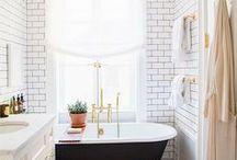 Bathroom / Interior design and decor inspiration for a small bathroom