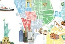 Maps / Illustrated maps of different cities and regions.