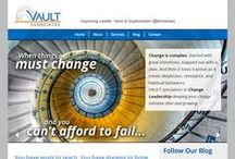 Vault Associates / VAULT works with small and medium sized commercial and government organizations, especially in the technology sector, and provides coaching support for individual leaders and executives.  VAULT Associates, LLC is a Woman-Owned, Service Disabled Veteran Owned Small Business (WOB, SDVOB). NAICS: 611430, 541611, 541612, 541614  - See more at: http://www.vaultassociates.com/about/#sthash.D1eFI6dv.dpuf  www.vaultassociates.com / by Nikki Zalesak, Creative Director/Designer