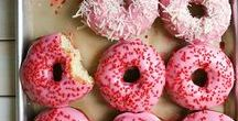 Food: Donut Love / Donut eat us: happy doughnut love in all different flavors.