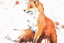 Animals: Foxes - Art / Fox art