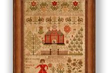 crossstitch: samplers / by Phebe-and-Jane