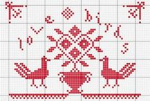 Crossstitch patterns / by Phebe-and-Jane
