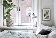 - bedroom - / Creating a cozy, soothing atmosphere for a sweet night's sleep... and those cuddly Saturday mornings.
