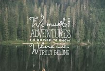Into the Wild / Camp. Woodlands. Adventure. Arrows. Nature. Tall trees. Fire.