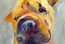 101 Pet Portraits in 101 Days / Pet Portraits painted with a fauvist influence. Hop over to this link to read about this project. http://saundralanegalloway.blogspot.com/2015/01/announcing-new-interactive-painting.html