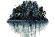 Watercoloring / by Chris Canino