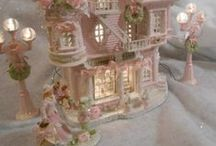 ♡ Christmas Villages ♡ / Beautiful romantic pastels / by Toynette