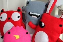 Plushies / Plush toys made by our seamstress, Catherine McDaid!