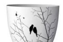 Teelichthalter und Windlichter / Schöne bunte Teelichthalter aus Porzellan von Bloomingville und Co.