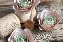 Blüten aus Stoff & Papier