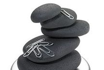 Crafts: Pebbles / Rocks and pebbles: painted, stacked, embroidered, cracked, carefully arranged, scattered, soft felted wool, polished metal, indoors or out in the garden. They have pleasing forms and can make great statement pieces.