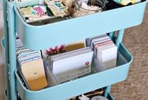Solutions for stashing. / by kim watson ★ design ★ papercraft