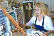 Artists - Interviews on my blog / Q&A with visual artists + studio tours featured on my blog.  I've also listed the artist's website (or online shop) whenever possible