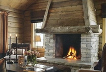 Home: Great Rooms & Fireplaces / by Colleen Mooney-Gallagher