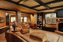 Home: Man Caves/Media Rooms/Game Rooms / by Colleen Mooney-Gallagher