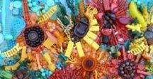 UpCycle Art / Recycled Art, Reusing Art Supplies, Reusing Junk in Art, Resourceful Art Projects, Art on a Budget, Shoestring Art