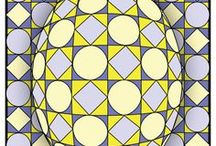 OP art for Kids / Art Lessons about Optical Illusions, Op Art, and using Colors to Trick the Eyes.