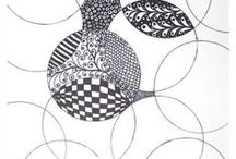 Zentangle / Ideas and instructions to make Zentangles. Zentangle, Patterns, How to Zentangle