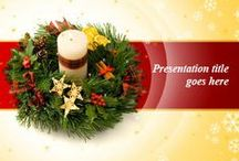 Christmas PowerPoint Template / Download free Christmas PowerPoint templates and Christmas backgrounds with awesome Christmas Trees, Wreaths and Christmas Decoration. / by Free PowerPoint Templates