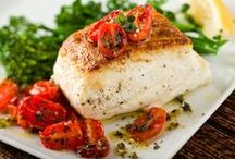 """Recipes 2 try Seafood / """"Don't tell fish stories where the people know you; but particularly, don't tell them where they know the fish.""""- Mark Twain"""