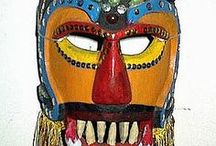 Masks / Masks and Mask Making with Students.  Plaster Masks, Paper Mache Masks, Wearable Masks, Decorative Masks, Cultural Masks, Art Activities with Masks