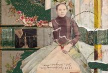 My Mixed Media Collage / mixed media collages, using vintage books and ephemera by Sharmon Davidson
