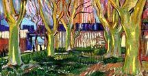 Vincent van Gogh / Art projects involving Vincent van Gogh. Starry Night, Sunflowers, Post-Impressionism, Self-Portraits, Showing Emotions through Art