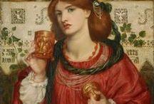 Pre-Raphaelite/Symbolist Art / Art by symbolist artists, members of the pre-raphealite brotherhood, and their followers