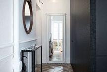 Hallway / Interior design   Interior decoration   Hallway design   Beautiful home design   Bold interior   Moody interior   Scandinavian bold